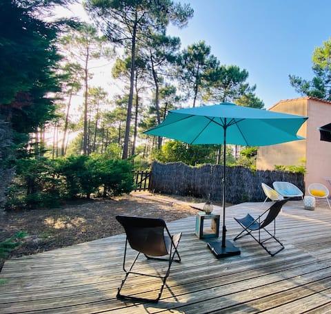 Charmante maison 2 chambres entre Océan et Forêt