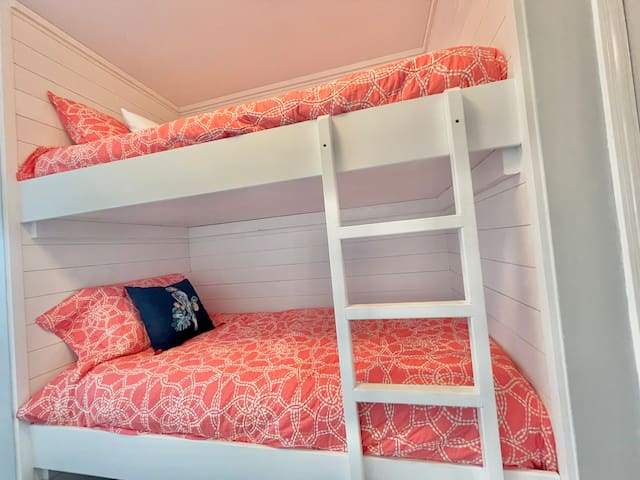 Twin bunks in hall