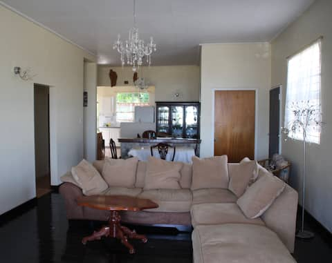 Spacious 2 bedroom bungalow with sea view.
