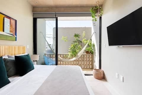 Ideal loft#3 close by Pto Juarez w/pool in rooftop