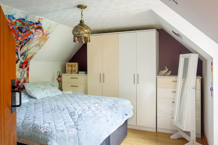 Bedroom 2 - located upstairs this bedroom can either be a double or converted into two single beds.