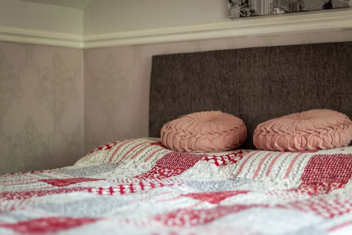 Bedroom 3 - located upstairs with a double bed and views onto the garden
