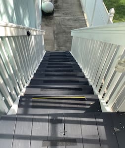 Stairs has light