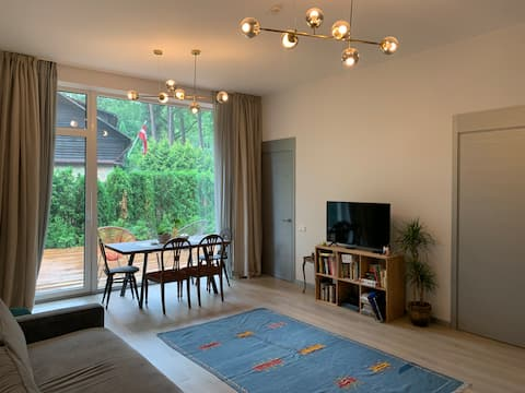 3 Bedroom Apartment with Large Terrace in Jurmala