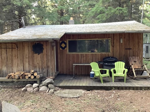 Rustic cabin at the north end of Turtle Lake