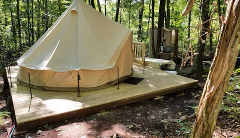 Secluded Glamping Tent!  w Fire Pit & Amenities