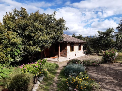 Agradable cabaña en una comunidad de Cotacachi