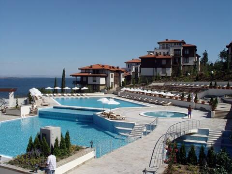 Beach-front villa in stunning Santa Marina resort
