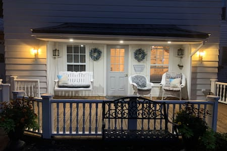 Separates switches control motion sensor lights on the right & left of a porch roof that sports 3 can lights of it's own. So you can decide how much light you want