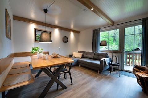 An idyllic suite  overlooking the garden.