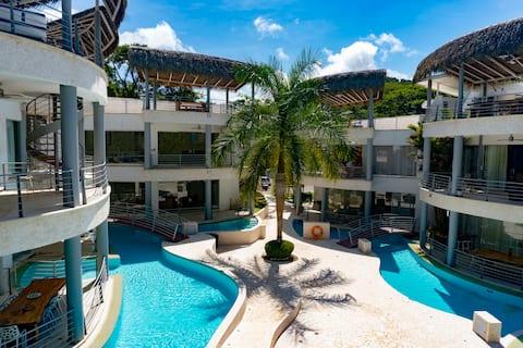 Full luxury 3 bedroom with massive pool.