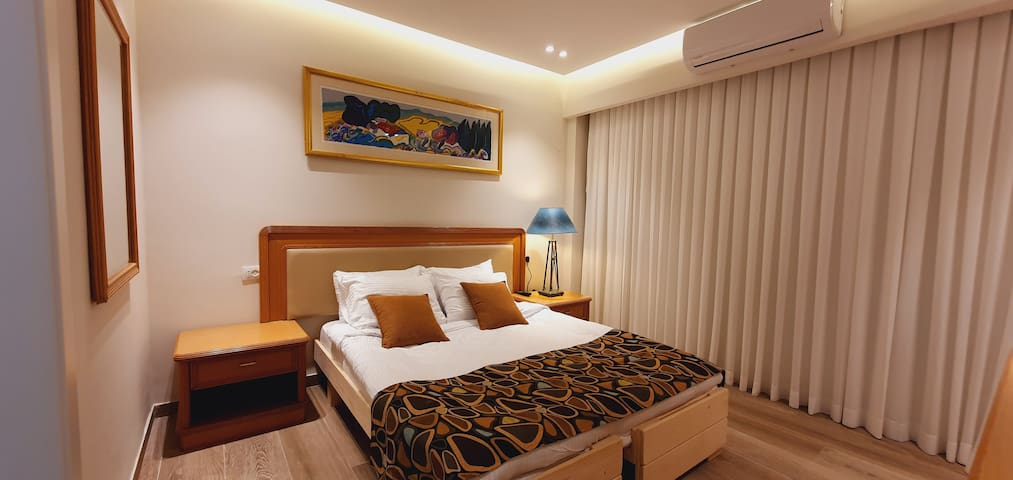 Family room - Two connected rooms with single beds or twin beds. Rooms size about 35 m