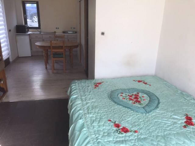 Deux lits simples (sous une couverture)