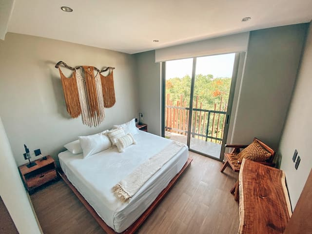 Comfy King Bed + Desk and Chair