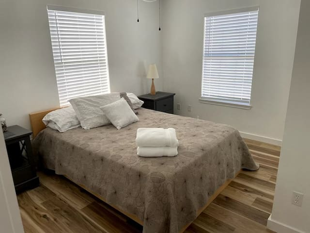 Master bedroom B with queen bed and large closet
