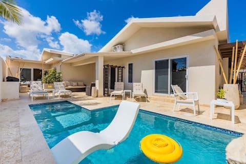 Nuevo apartamento completo Kitchen-Pool a pie de Palm Beach