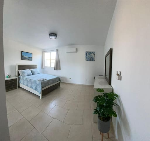 Master room with AC.