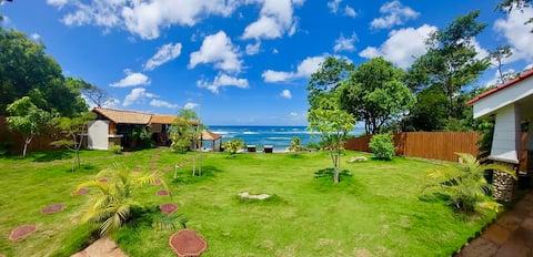 Beautiful four bedroom, beach front home with pool