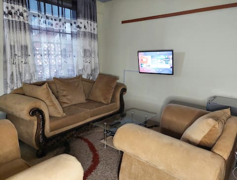 Comfy well furnished apartment with ample parking.