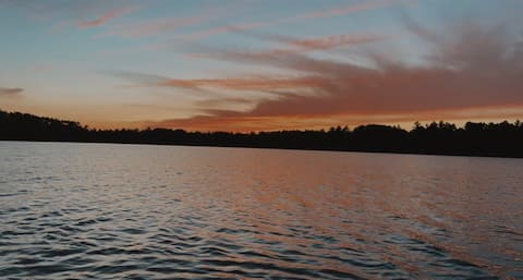 The Overwatch on Sunset Lake, a Northwoods gem.