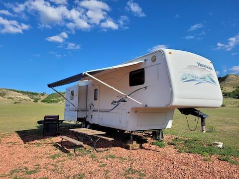 Immaculate camper in beautiful ND Badlands