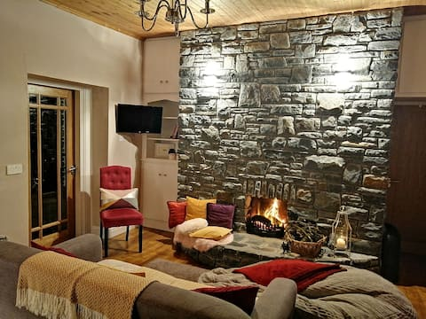 Cheerful mountainside cottage