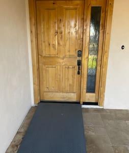 Ramp to front door