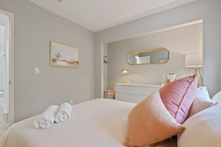 Bedroom 3 - Queen-sized bed with memory foam mattress