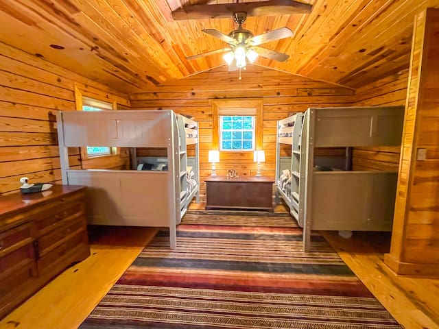 These are adult full size bunk beds. Each full bed holds 600 lbs and are very easy to climb and will comfortably sleep two adults.