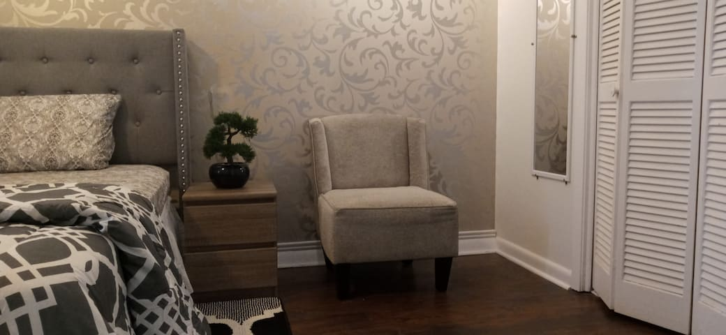 Very comfortable accent chair.