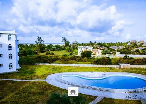 Ihana 2Br huoneisto, jossa on uima-allas Malindissa