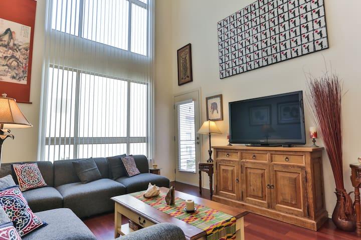 Living Room & Balcony Door