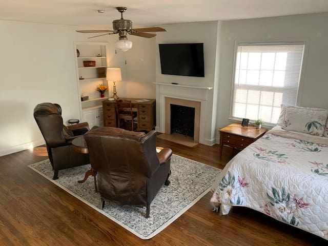 Upstairs media room and spare bed