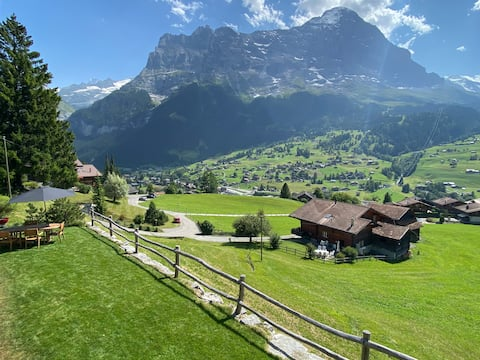 Studio avec jardin et vue imprenable sur l'Eiger