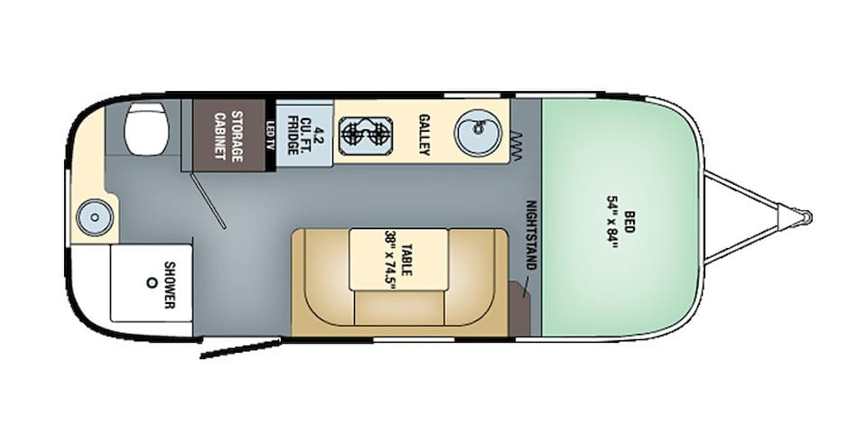 Floor Plan of our Bambi Sport 22