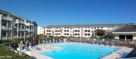 Condo with indoor/outdoor pool and beach access