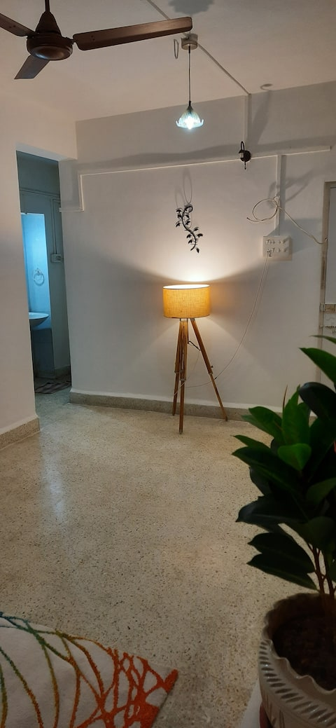 Eclectically styled 1BHK