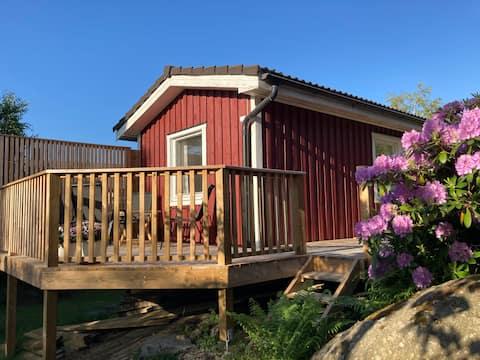 Trevligt litet gästhus nära havet och Göteborg.
