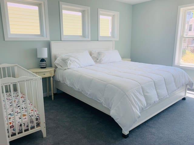 King Bed + Crib