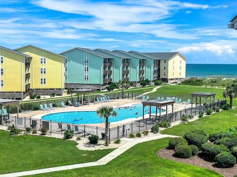 The Beach Hive - Oceanview Condo w/ Pool