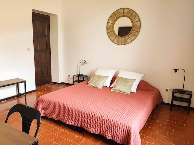 Chambre N°4-  19 m² -  vue colline avec salle d'eau et WC