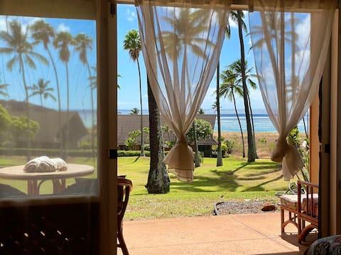 Ocean View Condo i Kepuhi Beach, Molokai Island.