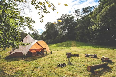 Luxury secluded glamping in the Brecon Beacons