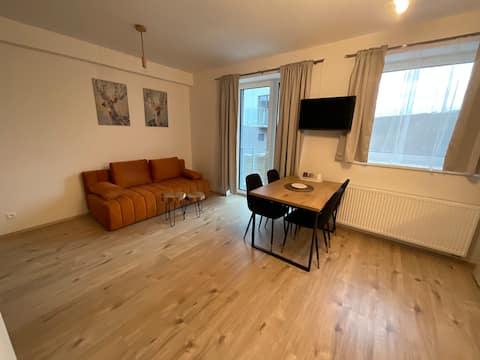 Útulný apartmán v alpském stylu přímo na Klínovci.