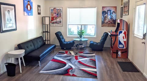 Cozy Lower-Level Suite w/Ultimate Home Ent & Patio
