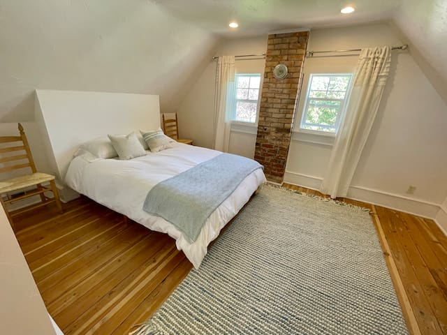 Several bedrooms feature the original chimneys that were used for wood burning stoves & heating in the early 1900s.