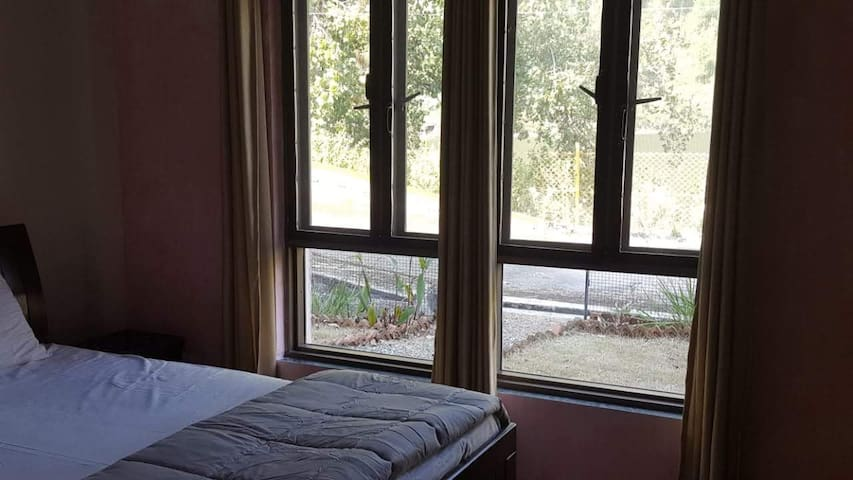 Guest room with a view of the lake