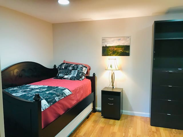 Second bedroom with twin bed and a pull-out twin bed