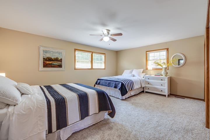 Bedroom 3 includes 2 double beds and large closets
