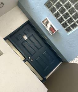 Front Door Apartment D first floor